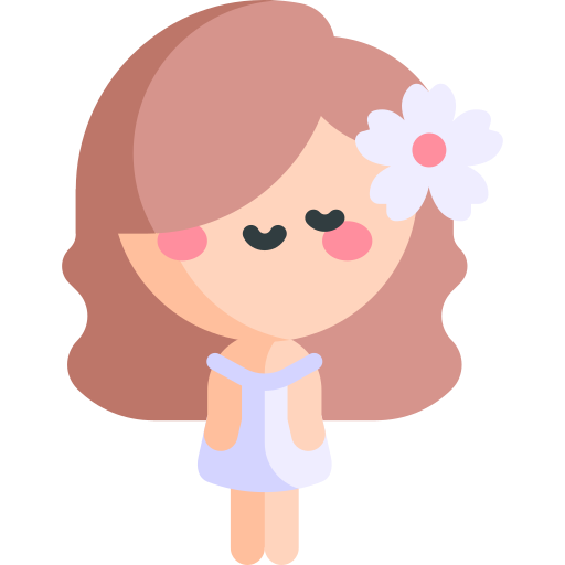 Flower girl hair icon